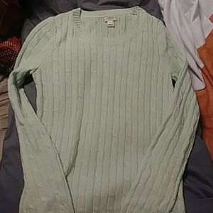 J Crew factory cable knit sweater